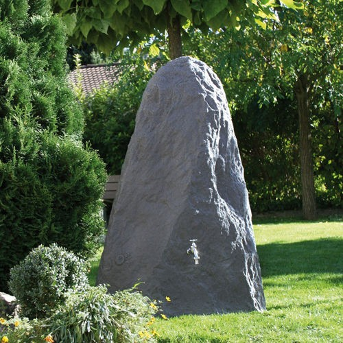Regentonne 225 Liter Montana black granit