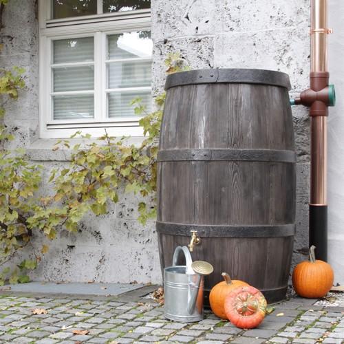 Regentonne 500 Liter Burgund dunkelbraun