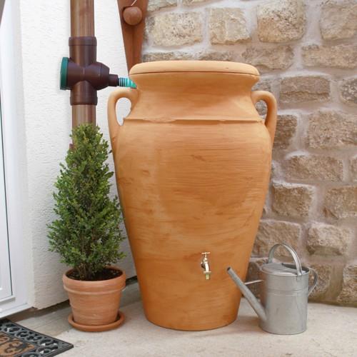 Regentonne 300 Liter Amphore Helena terracotta