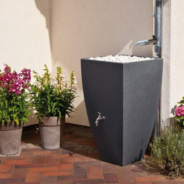 Regentonne 200 Liter Modena black granit
