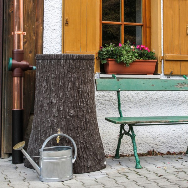 Regentonne 250 Liter Little Tree dunkelbraun