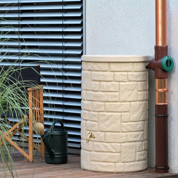 Regentonne 230 Liter Arcado sandstein