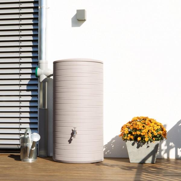 Regentonne Novara mit 285 Liter Volumen in der Farbe taupe