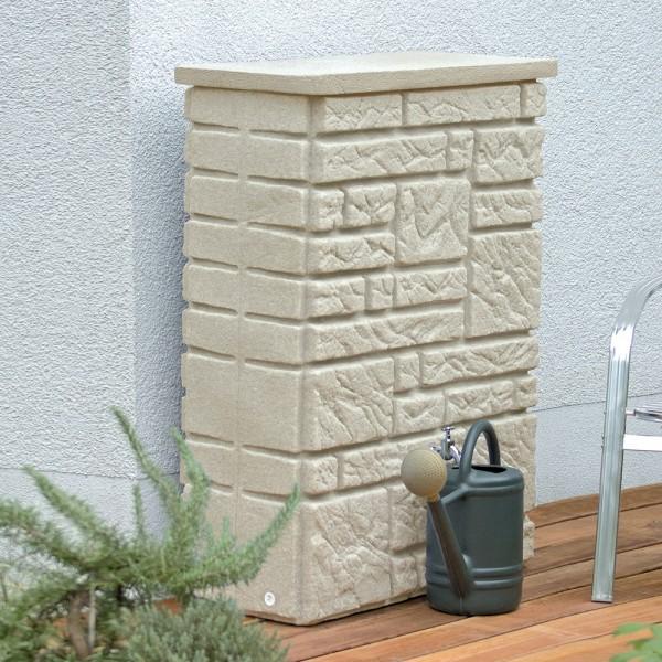 Regentonne 300 Liter Maurano sandstein