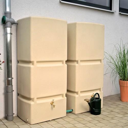 Regentonne 800 Liter Jumbo sandstein