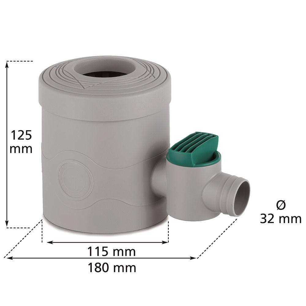 Regenwasserfilter Korbfilter 3P Filterkorb Edelstahl