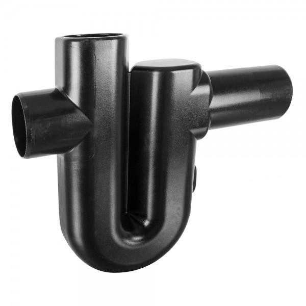 Überlaufsiphon DN 100 ohne Höhenversatz mit Geruchsverschluss zum Abwasserkanal